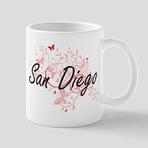 San Diego California City Artistic design wit Mugs