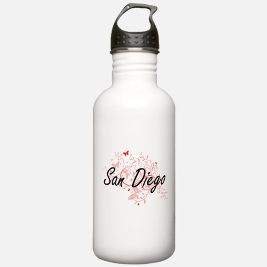 San Diego California C Water Bottle