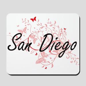 San Diego California City Artistic desig Mousepad