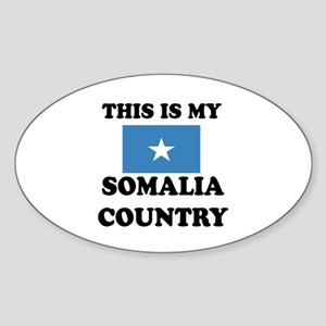 This Is My Somalia Country Sticker (Oval)