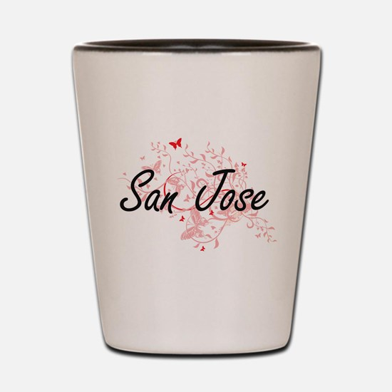 San Jose California City Artistic desig Shot Glass