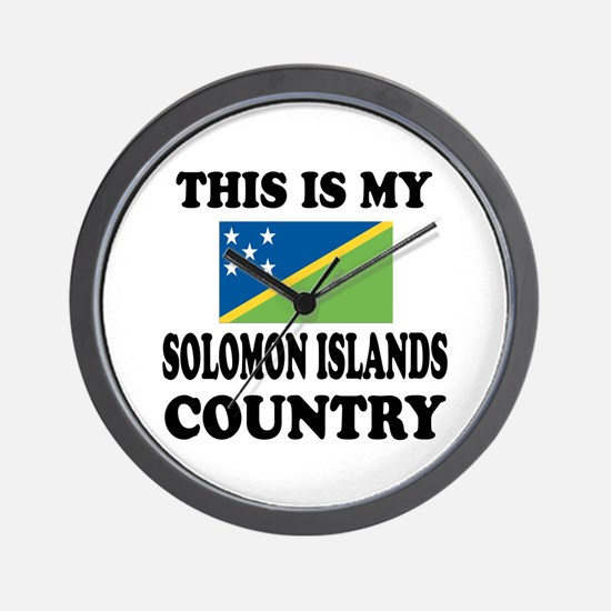 This Is My Solomon Islands Country Wall Clock