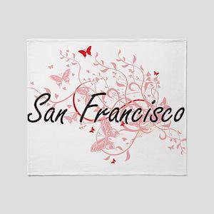 San Francisco California City Artist Throw Blanket