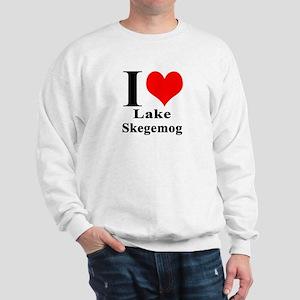I heart Lake Skegemog Sweatshirt