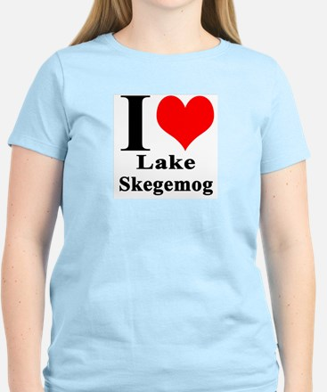 I heart Lake Skegemog Women's Light T-Shirt