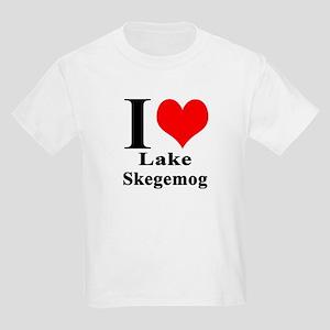I heart Lake Skegemog Kids Light T-Shirt
