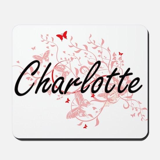 Charlotte North Carolina City Artistic d Mousepad