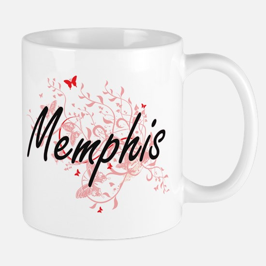 Memphis Tennessee City Artistic design with b Mugs