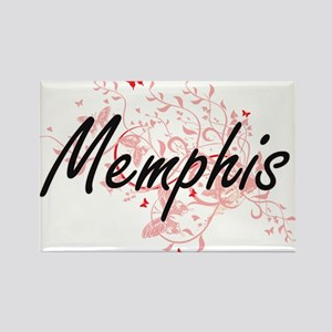 Memphis Tennessee City Artistic design wit Magnets