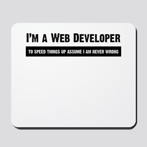 I am never wrong Mousepad