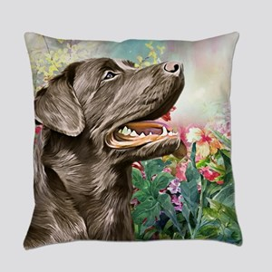 Labrador Painting Everyday Pillow