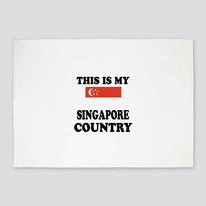 This Is My Singapore Country 5'x7'Area Rug