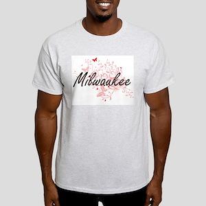 Milwaukee Wisconsin City Artistic design w T-Shirt