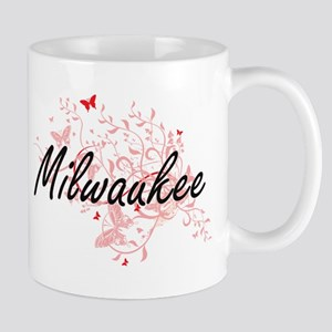 Milwaukee Wisconsin City Artistic design with Mugs