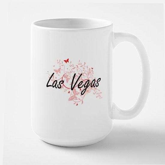 Las Vegas Nevada City Artistic design with bu Mugs