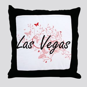 Las Vegas Nevada City Artistic design Throw Pillow