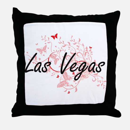 Las Vegas Nevada City Artistic design Throw Pillow