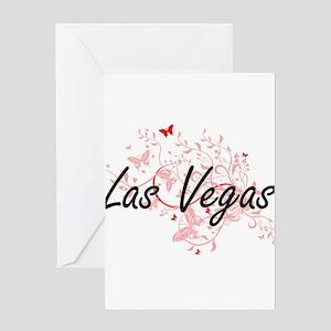 Las Vegas Nevada City Artistic desi Greeting Cards