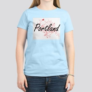 Portland Oregon City Artistic design with T-Shirt