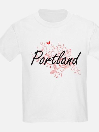 Portland Oregon City Artistic design with T-Shirt