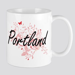 Portland Oregon City Artistic design with but Mugs