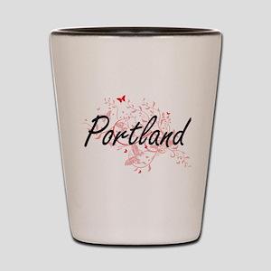 Portland Oregon City Artistic design wi Shot Glass
