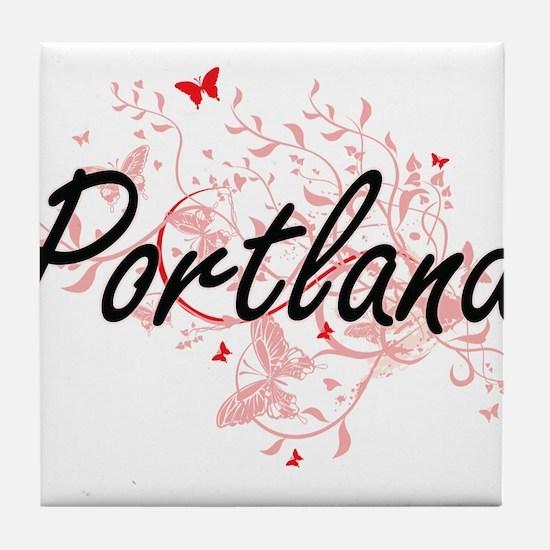 Portland Oregon City Artistic design Tile Coaster