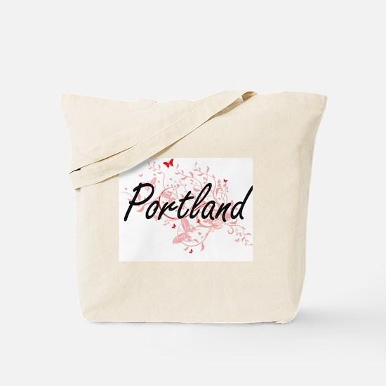 Portland Oregon City Artistic design with Tote Bag
