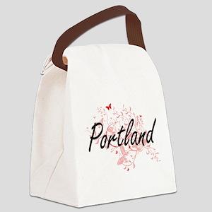 Portland Oregon City Artistic des Canvas Lunch Bag