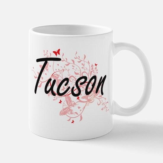 Tucson Arizona City Artistic design with butt Mugs