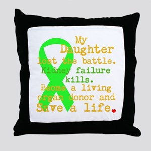 Personalize/Save A Life Throw Pillow