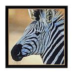 Zebra Portrait Tile Coaster
