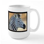 Zebra Portrait Large Mug