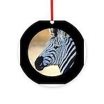 Zebra Portrait Ornament (Round)