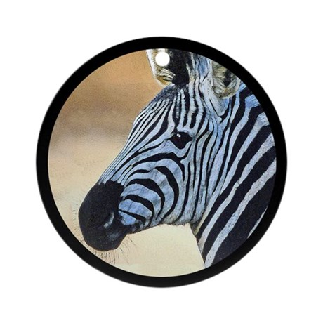 Zebra Portrait Ornament (Round)
