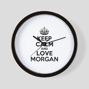 Keep Calm and Love MORGAN Wall Clock