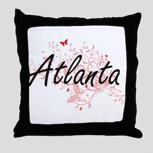Atlanta Georgia City Artistic design Throw Pillow