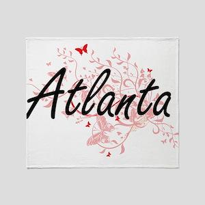 Atlanta Georgia City Artistic design Throw Blanket