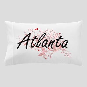 Atlanta Georgia City Artistic design w Pillow Case