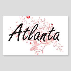 Atlanta Georgia City Artistic design with Sticker