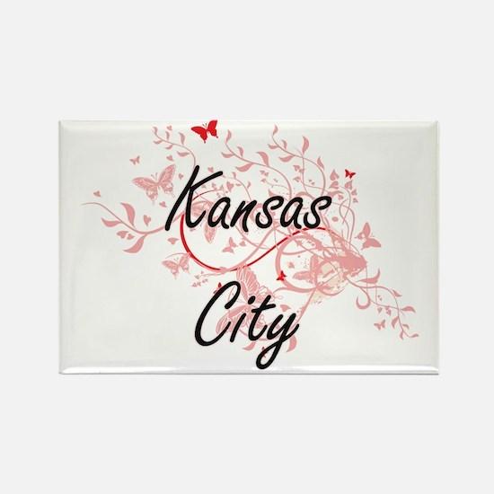Kansas City Missouri City Artistic design Magnets