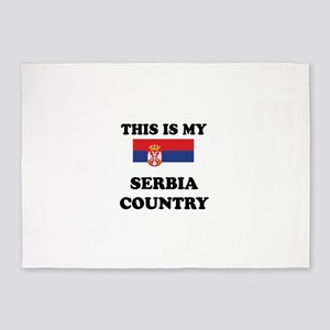 This Is My Serbia Country 5'x7'Area Rug