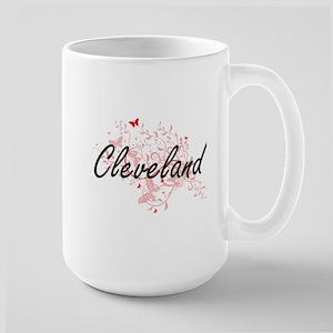 Cleveland Ohio City Artistic design with butt Mugs