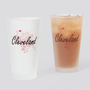 Cleveland Ohio City Artistic design Drinking Glass