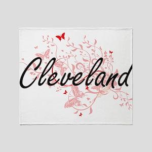 Cleveland Ohio City Artistic design Throw Blanket