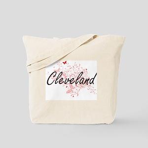 Cleveland Ohio City Artistic design with Tote Bag