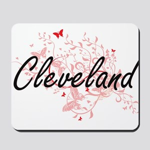 Cleveland Ohio City Artistic design with Mousepad