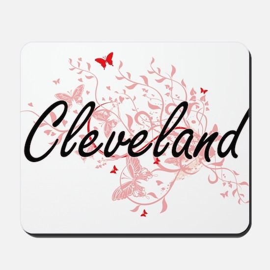 Cleveland Ohio City Artistic design with Mousepad
