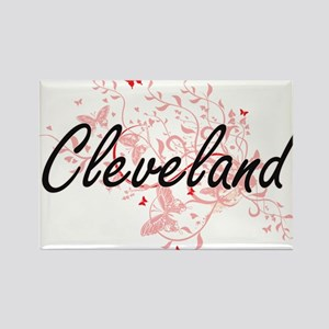 Cleveland Ohio City Artistic design with b Magnets