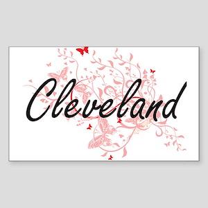 Cleveland Ohio City Artistic design with b Sticker